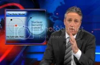Jon Stewart with NNS logo