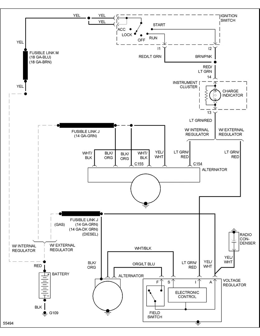 [WRG-1669] 1988 Ford F 150 Voltage Regulator Wiring Diagram