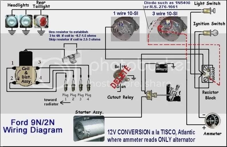ford 9n 12v wiring diagram 1963 chevy pickup 8n front mount with 12 volt conv. - 9n, 2n, forum yesterday's tractors
