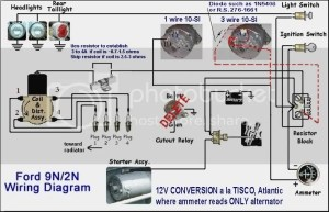 8n front mount wiring diagram with 12 volt conv  Ford 9N
