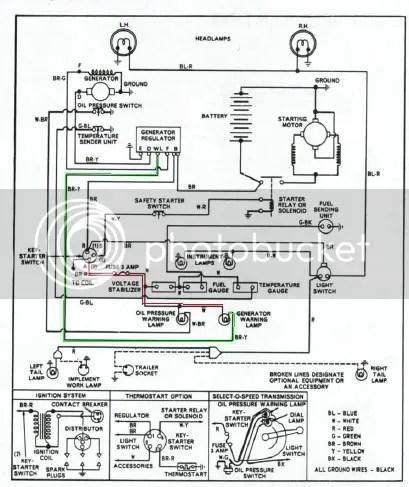 Elektrisch schema ford 5000