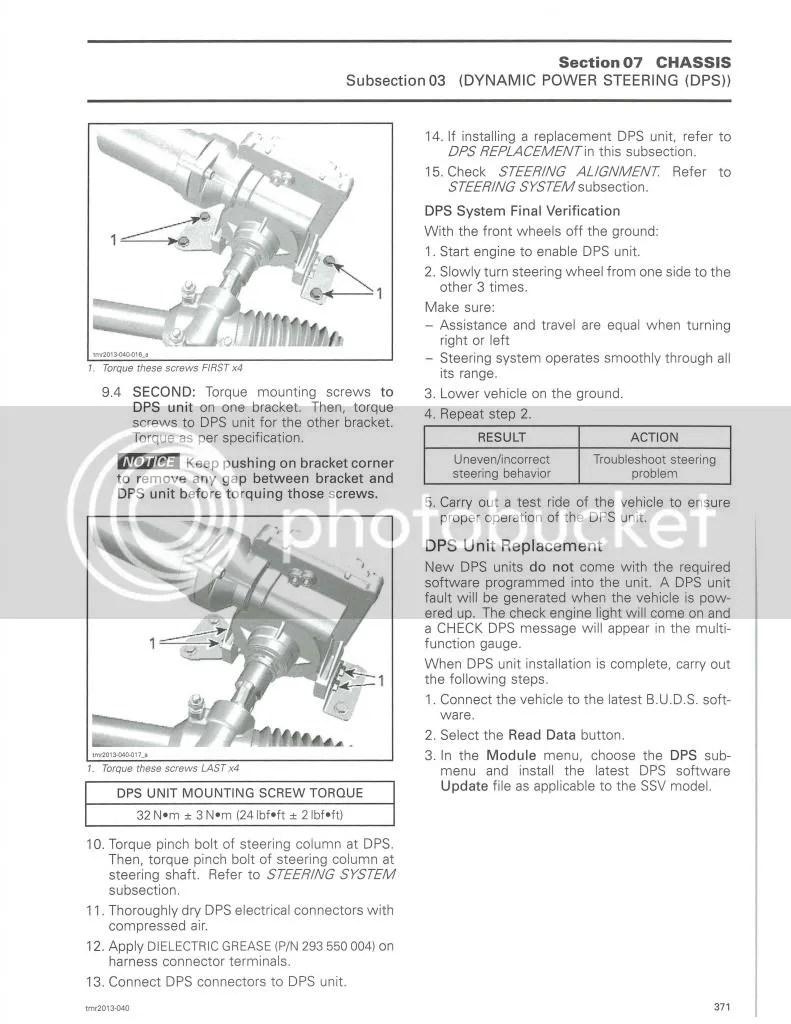 13 model commanders with dps/ power steering beware