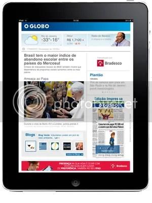 O Globo, Folha de São Paulo e Estadão começam a cobrar por conteúdo no iPad
