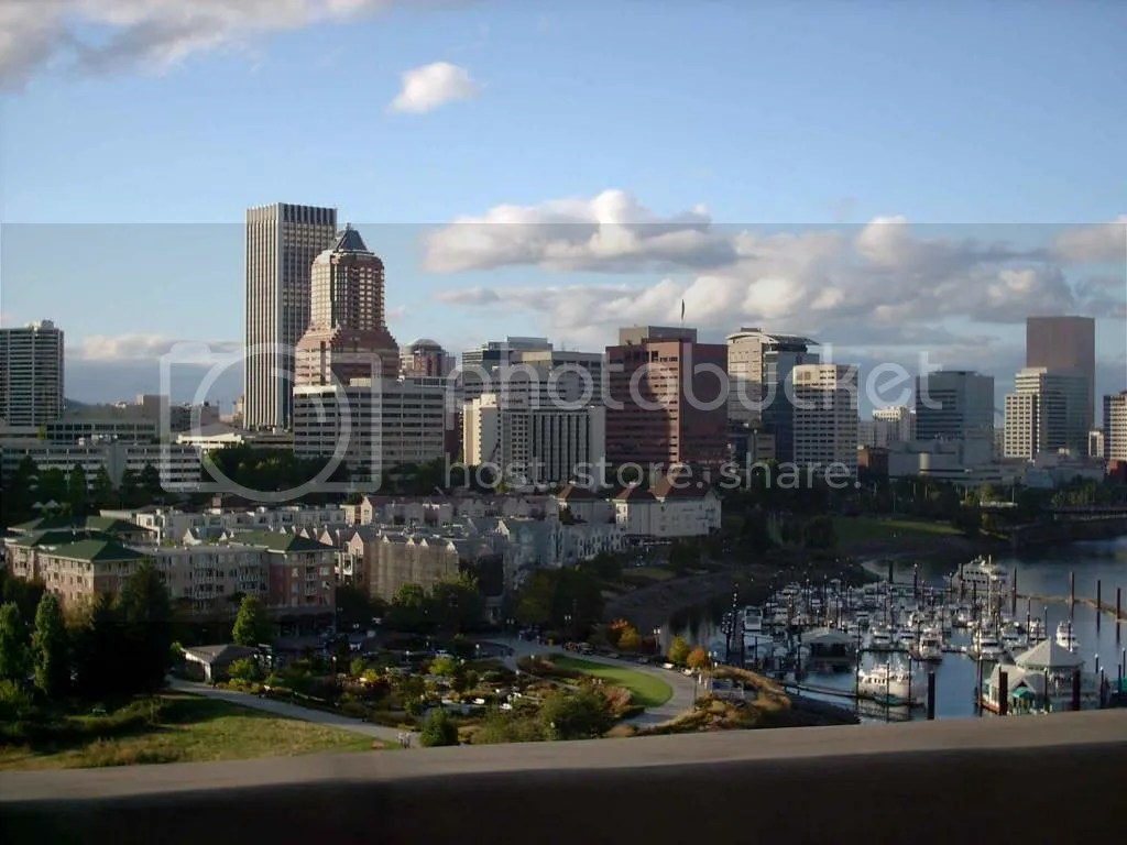 Portland Skyline From Marquam Bridge