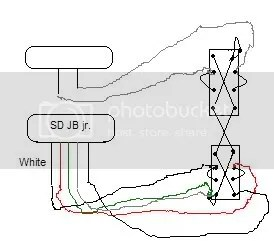 2 Humbuckers 1 Volume Tone 5 Way Switch Wiring Diagram