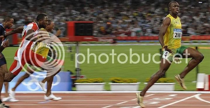 Bolt siendo un cabron
