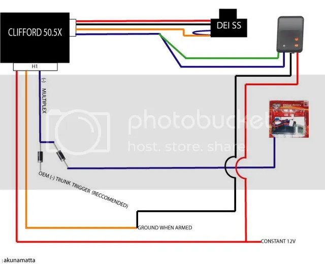 clifford alarm wiring diagram two way light switch au94tm matrix 50.5x review and diagram. - page 2 honda-tech honda forum ...