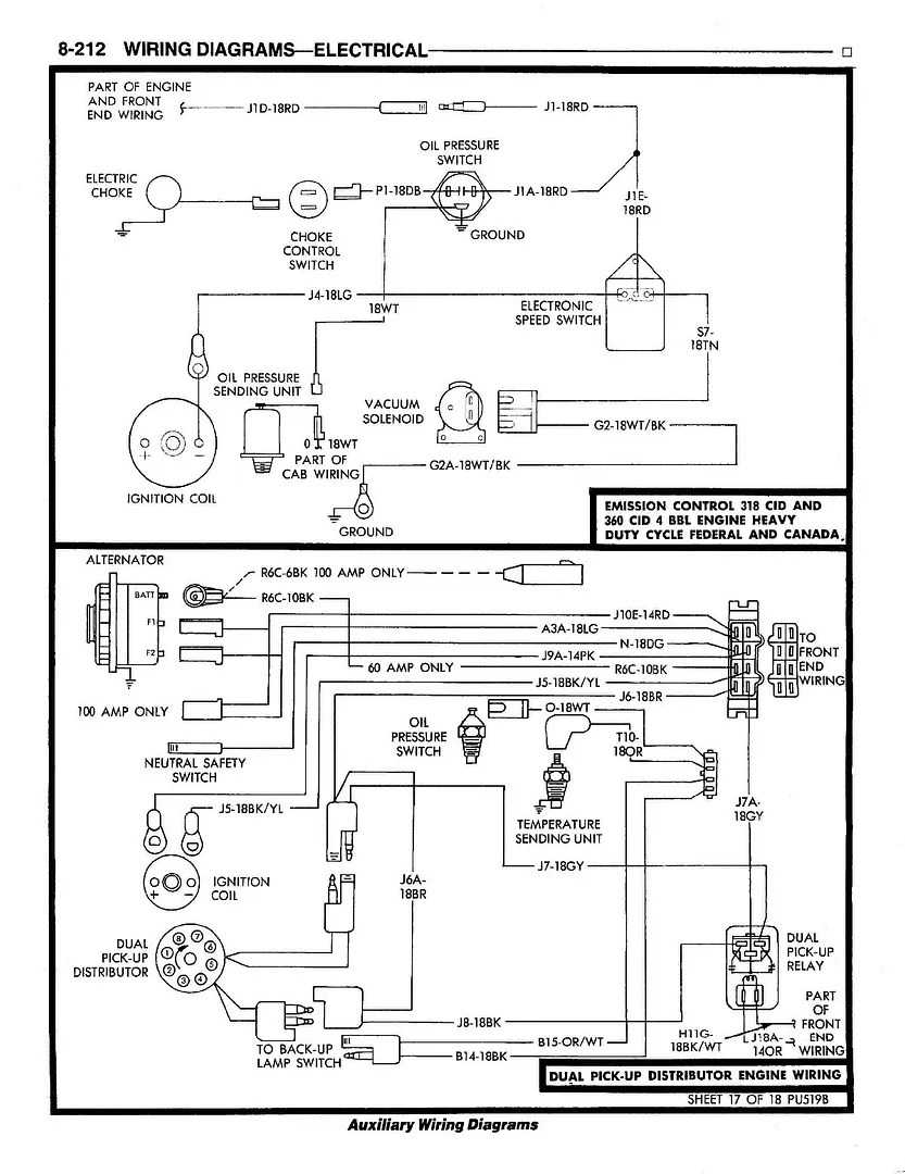 81 Dodge Dual-pickup Distributor Wiring Diagram Pictures