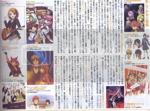 Pages from Animeage magazine