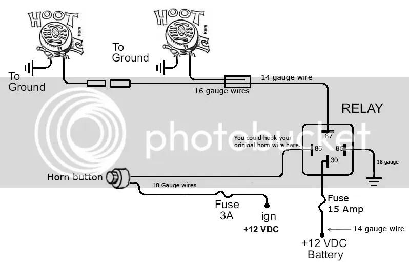Wiring Diagram Car Horn Relay