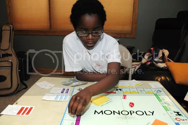 Charles at Monopoly