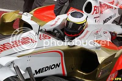 Pedro de La Rosa testing for Force India