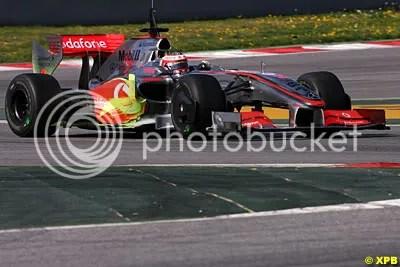 McLaren still struggling and using the hi-viz paint
