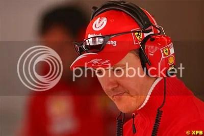 Michael keeping an eye on things at Ferrari