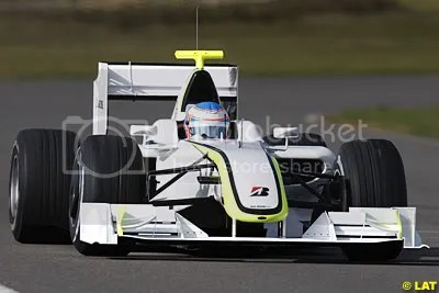 Button in the BGP001 (Thanks to Autosport for photo)