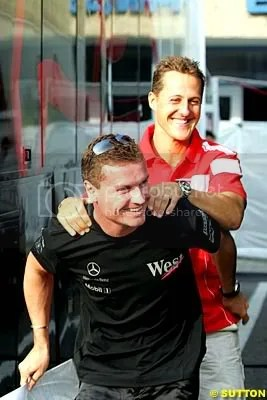 David Coulthard and Michael Schumacher, enemies as much as friends