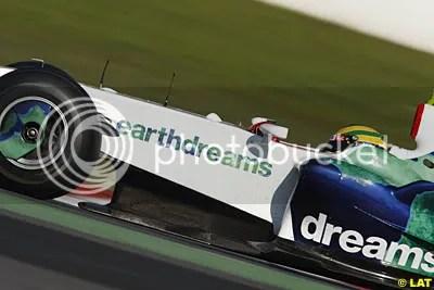 Bruno Senna testing for Honda