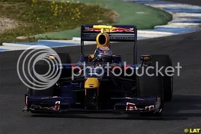 Sebastian Vettel shaking down the RB5