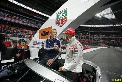 Lewis Hamilton with Chris Hoy (also honoured) at RoC in December 2008