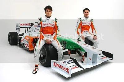 VJM02 with Giancarlo Fisichella and Adrian Sutil