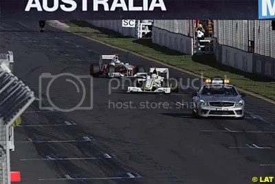 The safety car was used a few times!