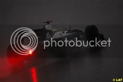 Rosberg in the Rain