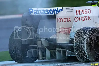 Toyota TF109, the contraversial rear diffuser