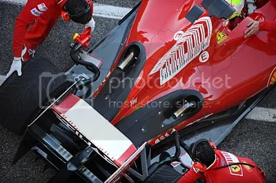 Width of floor now noticeable without aerodynamic winglets on Ferrari F60