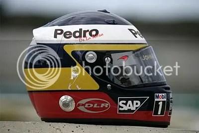 Pedro De La Rosa's Helmet