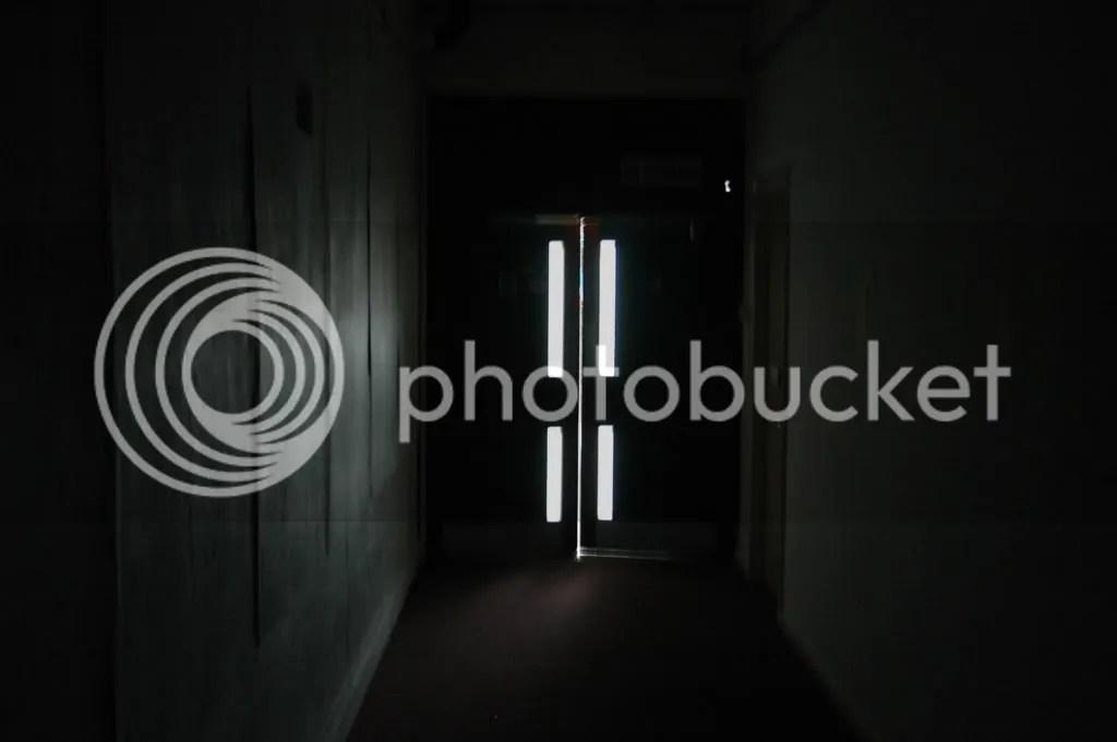 C Block, deserted corridor