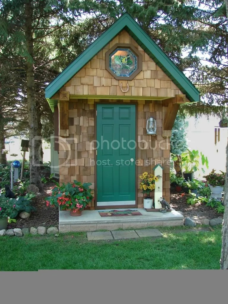 Garden Sheds Offer A Unique Focal Point In Your Cottage Garden A