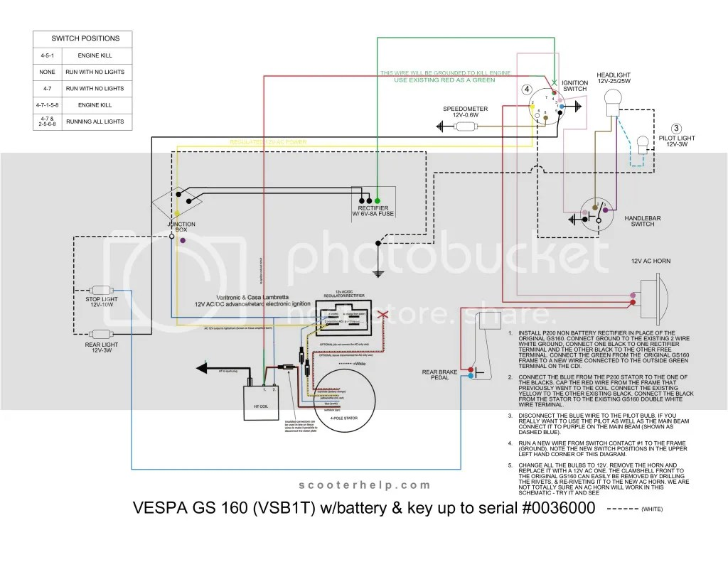 small resolution of vespa tronic gs 160 1st series with battery sip scootershopvespatronic wiring diagram 14