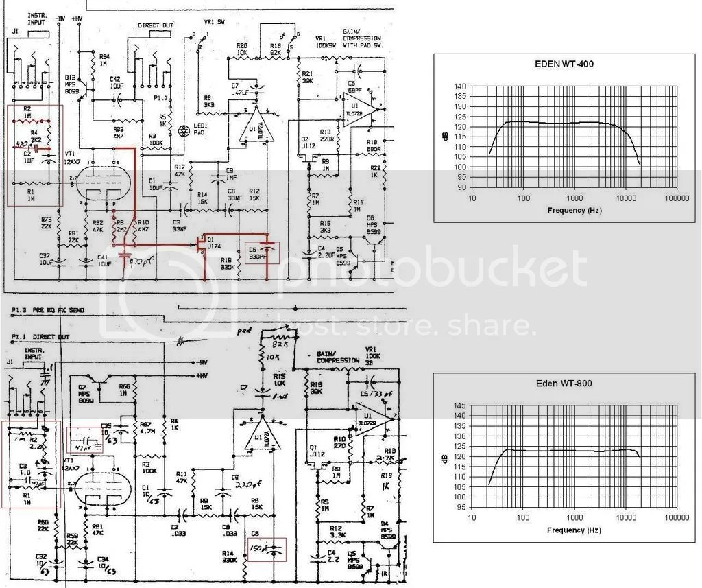 Modifying Preamp Frequency Response