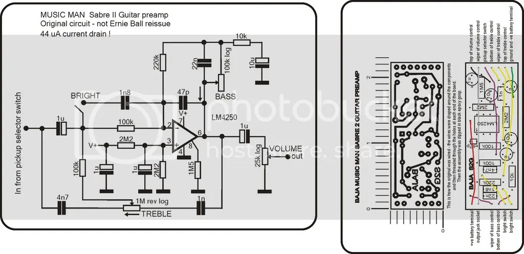 need schematics for bass active electronics