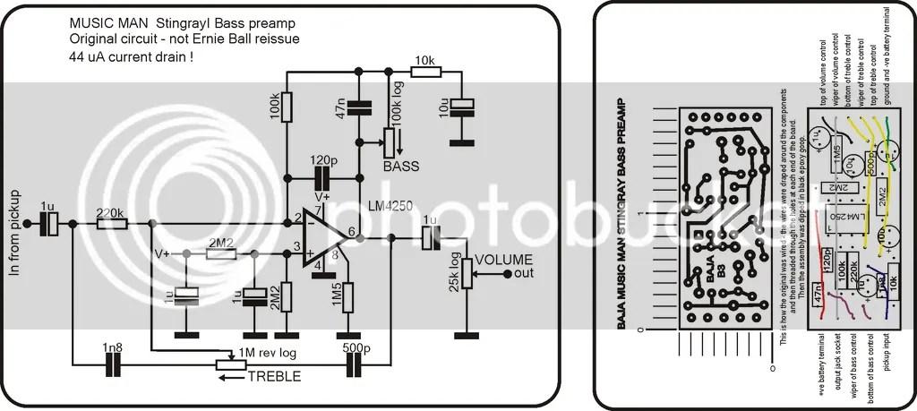 Passive Pickup Wiring Diagram Stingray Preamp Veroboard