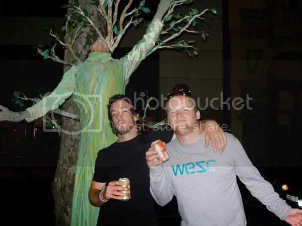 Lee and Olly and TREEMAN!