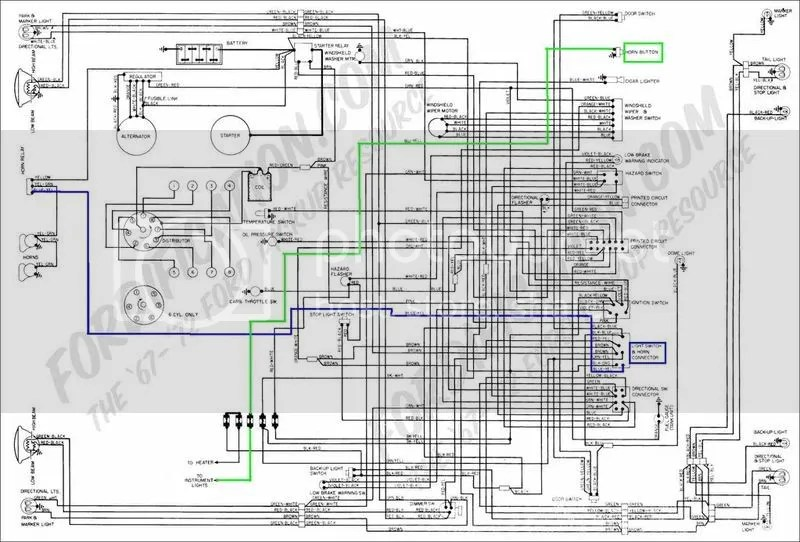 1971 Ford Pickup And Truck Wiring Diagram Original F100