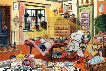 Image result for snoopy and woodstock quilting