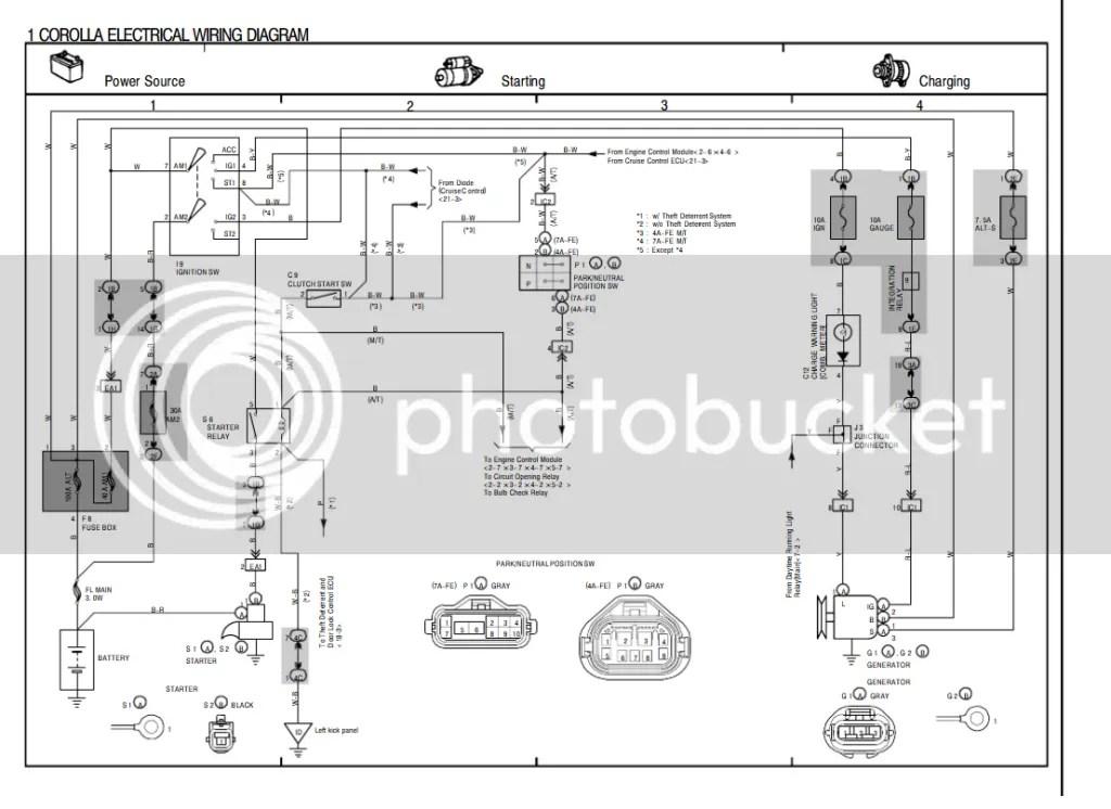 Wiring Diagram Engine 4afe