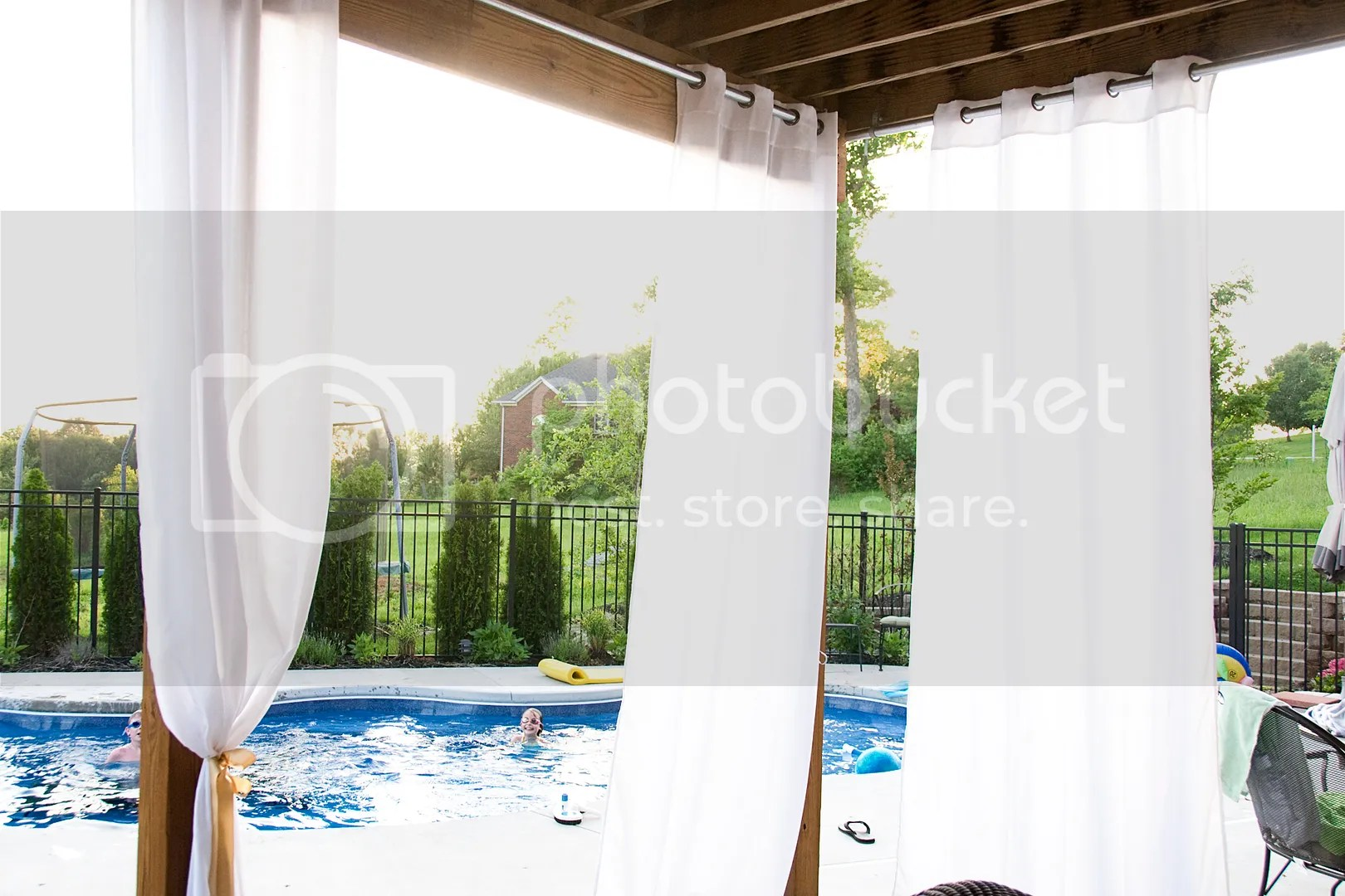 Hanging Outdoor Curtains  The Polkadot Chair