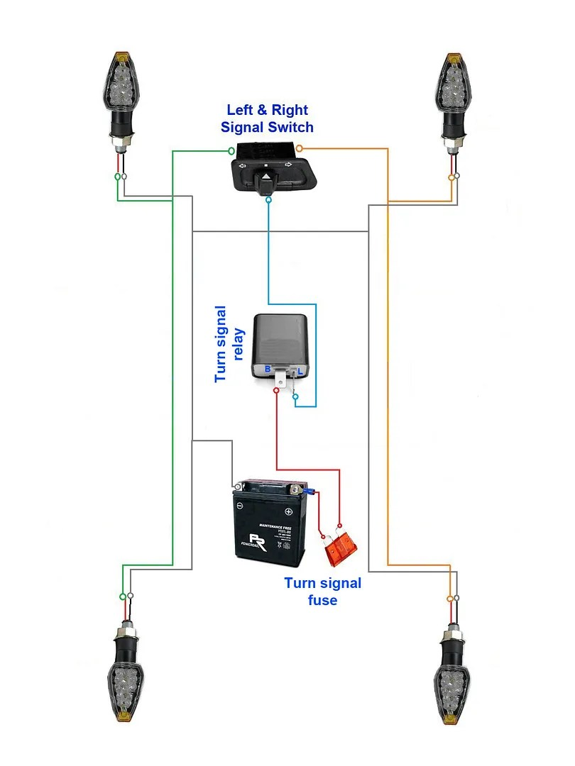 hight resolution of below diagram is example of an original turn signal system with a 2 pin relay