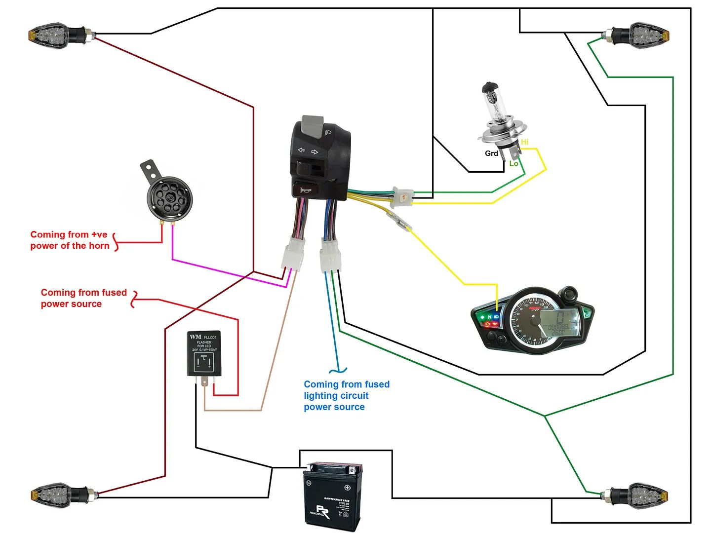 hight resolution of moto lights wiring diagram manual e book motolights wiring diagram