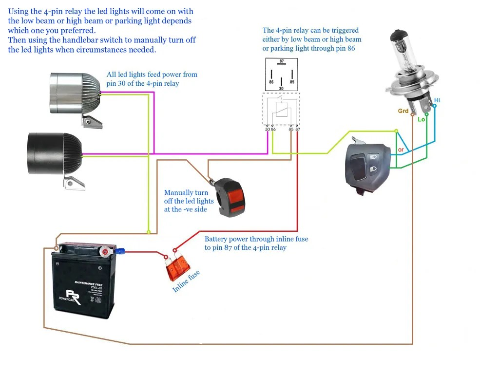 hight resolution of wiring diagram for cree motorcycle lights strobe light honda motorcycle wiring diagrams basic motorcycle wiring diagram