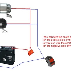 On Off Switch Wiring Diagram Blank Spider 12v 780lm Cree Led Motorcycle Auxiliary Adventure Fog