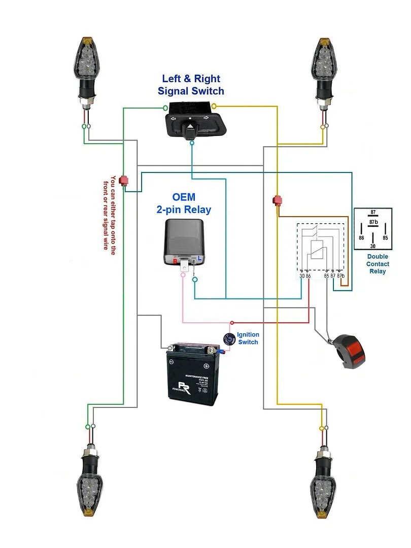 hight resolution of below diagram the hazard lights will only work with ignition key on