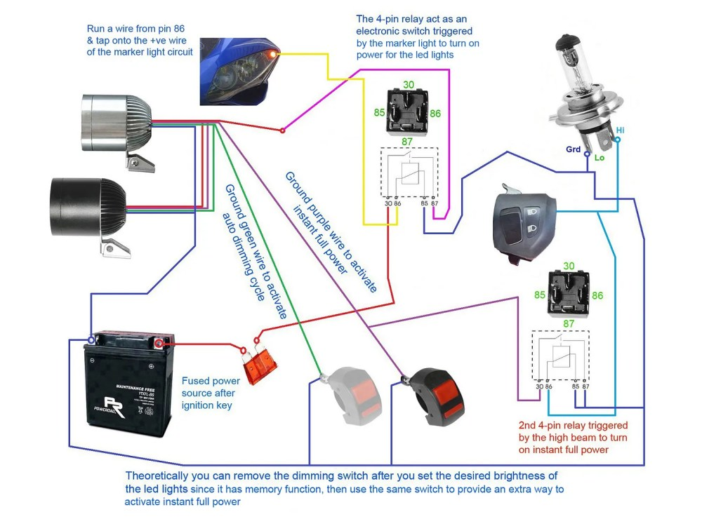 medium resolution of below wiring diagrams showing more setup options cree 35w led driving light