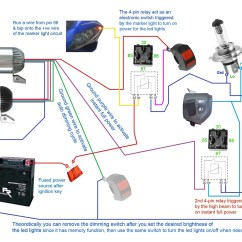 Wiring Diagram For Spotlights Kenwood Harness Colors Cree Led Headlight  Motorcycle