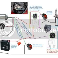 Wiring Diagram 4 Spotlights Mitsubishi Pajero Radio 3500lm Cree Led Light X2 43switch 2allbuyer