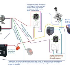4 Pin Relay Wiring Diagram With Switch 2000 Ford Ranger Manual 3500lm Cree Led Light X2 43switch 2allbuyer