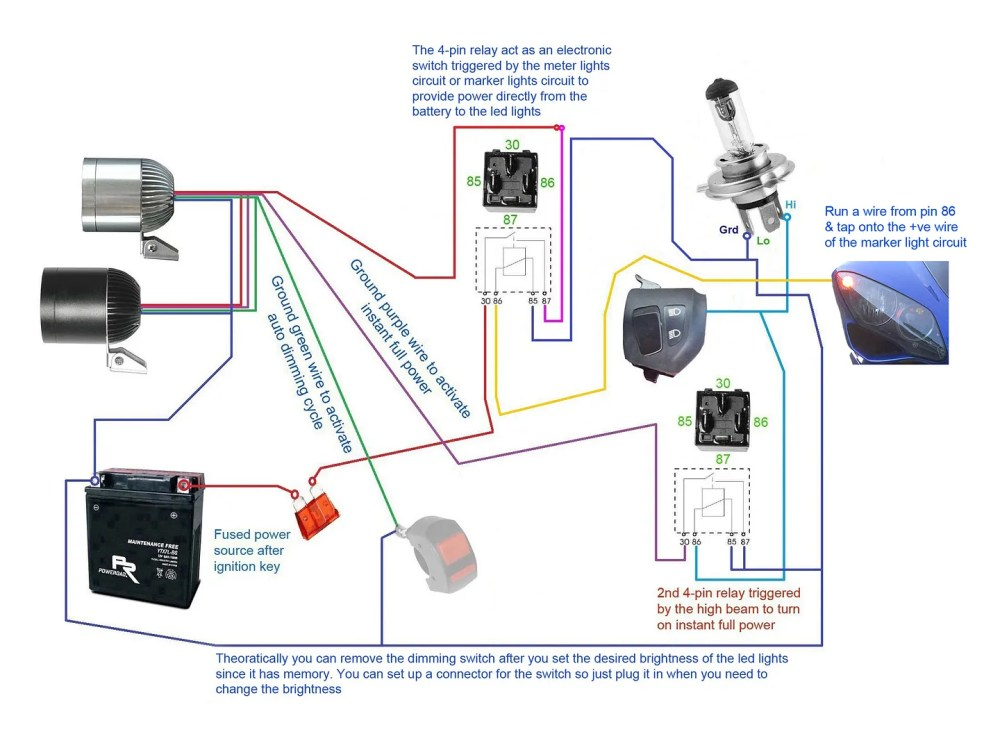 medium resolution of below wiring diagrams showing more setup options 3500lm cree led light